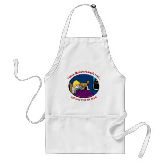 Monsters in my head adult apron
