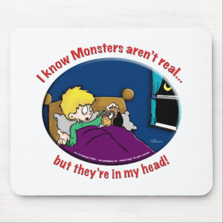 Monsters in my head mouse pad