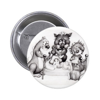 Monsters in My Room 2 Inch Round Button