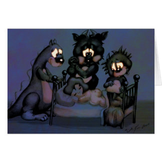 Monsters in My Room Greeting Card