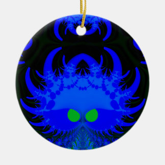 Monsters In The Dark Fractal Round Ornament