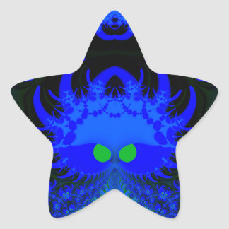 Monsters In The Dark Fractal Star Stickers Star Stickers