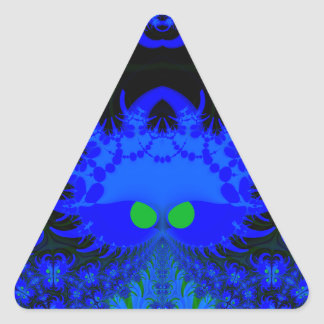 Monsters In The Dark Fractal Triangle Stickers