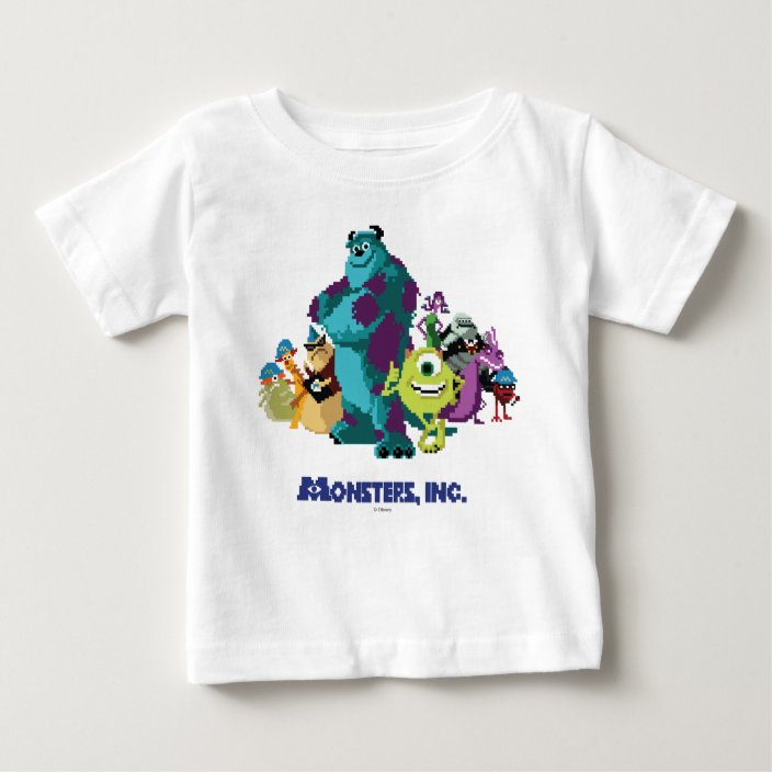 Monsters Inc 8bit Mike Sully And The Gang Baby T Shirt Zazzle Com