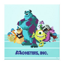 Monsters Inc 8Bit Mike, Sully, and the Gang Canvas Print