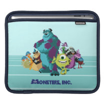 Monsters Inc 8Bit Mike, Sully, and the Gang iPad Sleeve