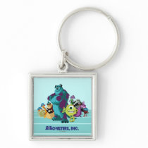 Monsters Inc 8Bit Mike, Sully, and the Gang Keychain