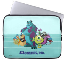Monsters Inc 8Bit Mike, Sully, and the Gang Laptop Sleeve