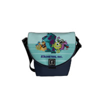 Monsters Inc 8Bit Mike, Sully, and the Gang Messenger Bag