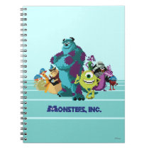 Monsters Inc 8Bit Mike, Sully, and the Gang Notebook