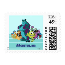 Monsters Inc 8Bit Mike, Sully, and the Gang Postage