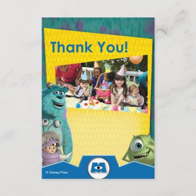 Monsters Inc Thank You Cards Zazzle
