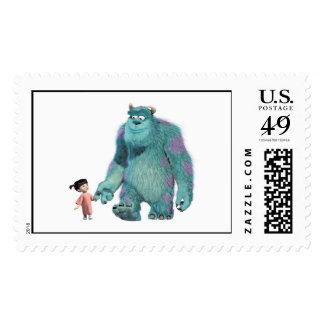 Monsters Inc. Boo And Sulley walking Postage