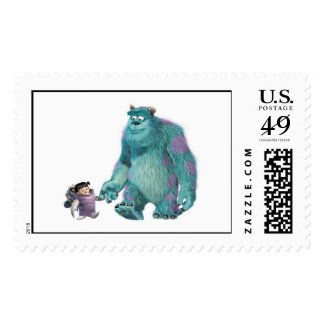 Monster's, Inc. Boo in costume with Sulley Disney Stamp