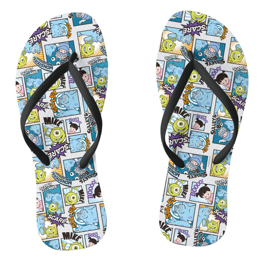 Monsters, Inc. | Comic Pattern Mania Flip Flops