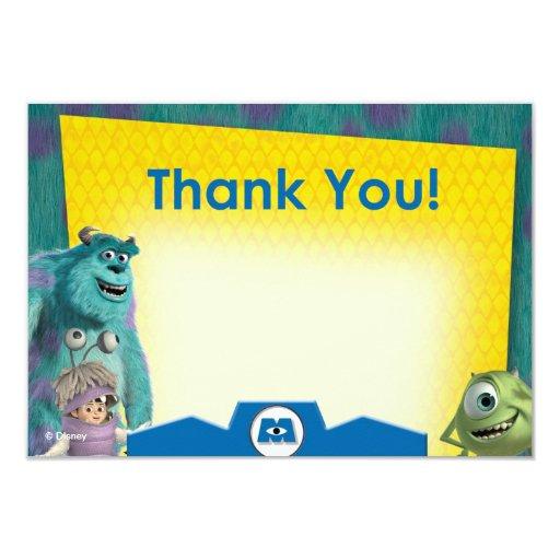 Monsters Inc. le agradecen las tarjetas Invitación 8,9 X 12,7 Cm