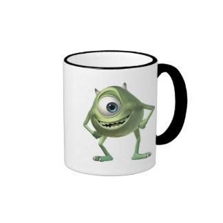 Monsters, Inc. Mike listo para el negocio Disney Taza A Dos Colores