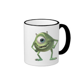 Monsters, Inc. Mike Ready for Business Disney Ringer Coffee Mug