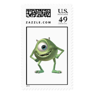 Monsters, Inc. Mike Ready for Business Disney Postage Stamp