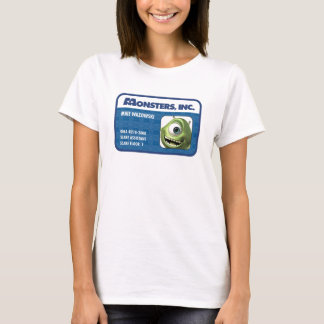 Monsters Inc. Mike Wazowski employee ID card T-Shirt