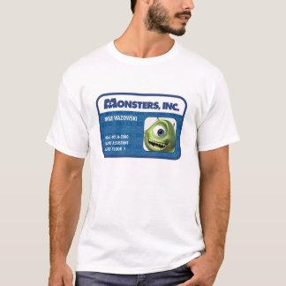 Monsters Inc. Mike Wazowski employee ID card T-Shirt