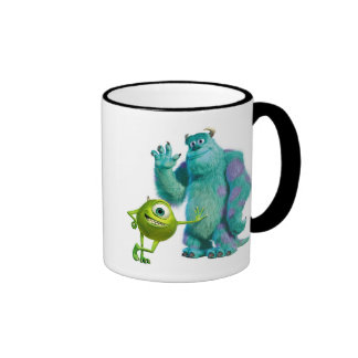Monsters Inc. Mike y Sulley Taza A Dos Colores