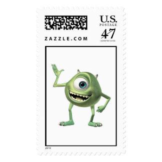 Monsters, Inc.'s Mike Waving Disney Postage