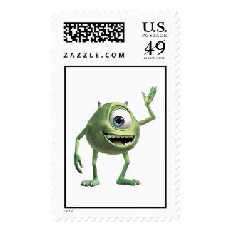 Monsters, Inc.'s Mike Waving Disney Postage Stamp