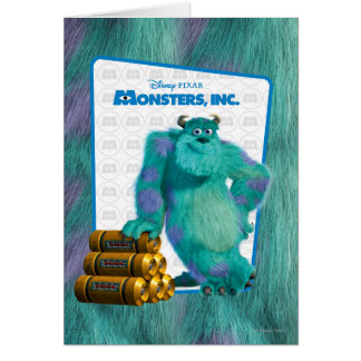 Monsters, Inc. Sulley Greeting Card