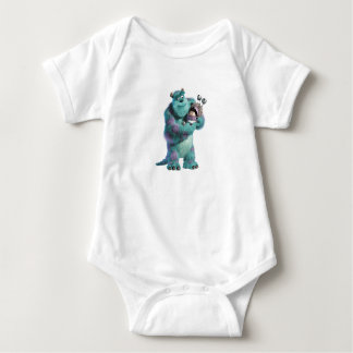 Monsters Inc Sulley holding Boo in costume in arms Baby Bodysuit