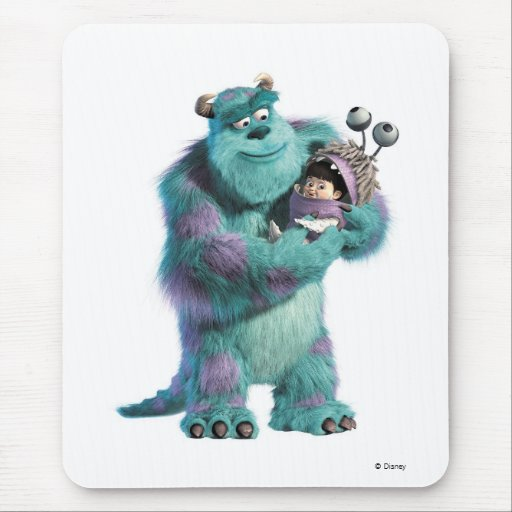 Monsters Inc Sulley holding Boo in costume in arms Mouse Pad