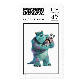 Monsters Inc Sulley holding Boo in costume in arms Postage