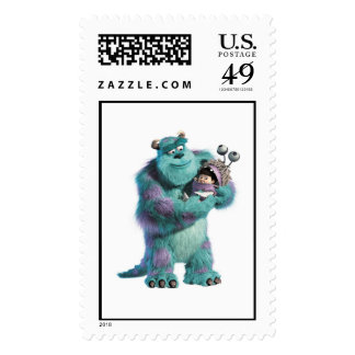 Monsters Inc Sulley holding Boo in costume in arms Stamp