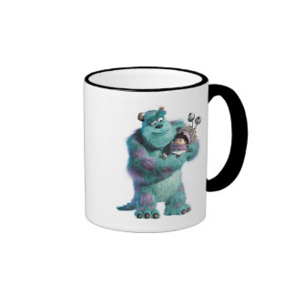 Monsters Inc Sulley holding Boo in costume in arms Ringer Coffee Mug