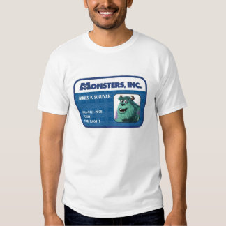 Monsters Inc. Sulley ID card Tee Shirts