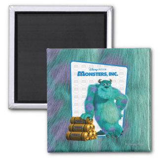 Monsters, Inc. Sulley Imán Cuadrado