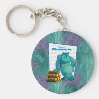 Monsters, Inc. Sulley Llavero Redondo Tipo Pin