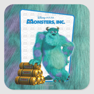 Monsters, Inc. Sulley Square Sticker