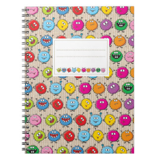 Monsters mix ring binder notebook