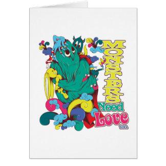 monsters need love too card