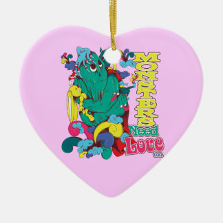 monsters need love too christmas ornaments