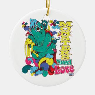monsters need love too christmas tree ornament