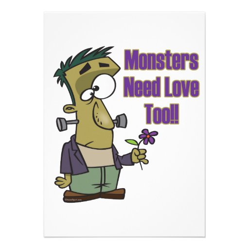 monsters need love too funny frankenstein invitation