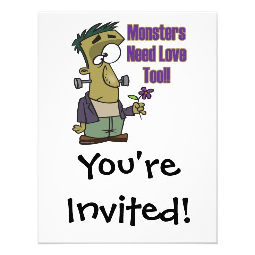 monsters need love too funny frankenstein announcement