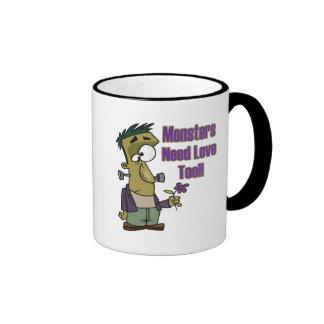 monsters need love too funny frankenstein mug