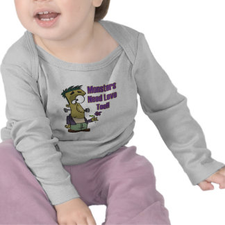 monsters need love too funny frankenstein t shirt