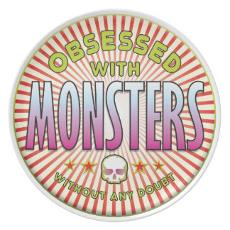 Monsters Obsessed R Party Plate