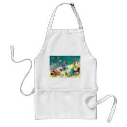 Monsters on the Beach Adult Apron