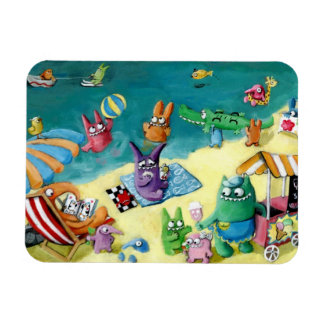 Monsters on the Beach Magnet