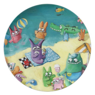 Monsters on the Beach Plate